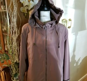 Polyester Raincoat. 3/4 Length ( mid thigh).